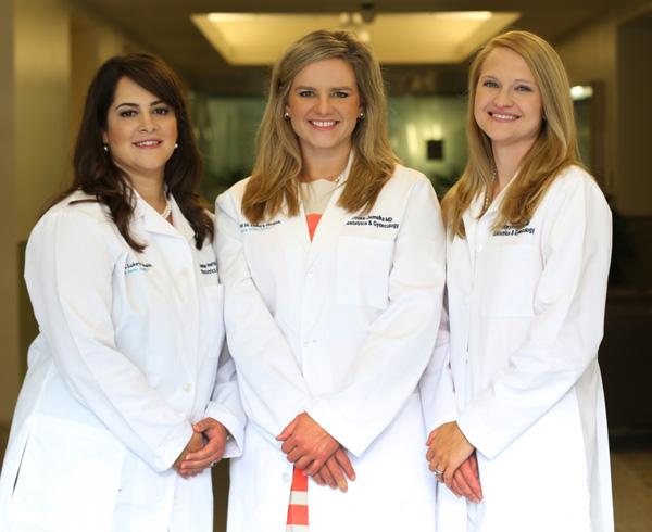 From left, Dr. Hernandez, Dr. Jemelka, and Dr. Karges